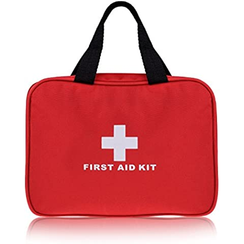 Plusinno Mini Kit de primeros auxilios compacto Bolso médico de emergencia para el recorrido del deporte Inicio Supervivencia en la naturaleza ( 280 Piezas)