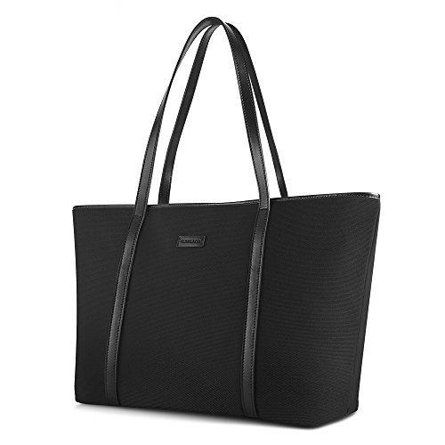 CHICECO Nylon Gro Reise Shopper Tasche Handtasche Damen - Schwarz