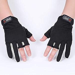 Newmere Fingerlose, rutschfeste, atmungsaktive Handschuhe mit Klettverschluss und Angelzubehör