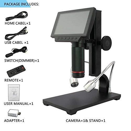 Digitales Mikroskop tragbare Digitallupe mit 5 Zoll Industriekamera-Verstärker Full HD Mikroskop zur Werkzeugreparatur (1600 Verstärker)