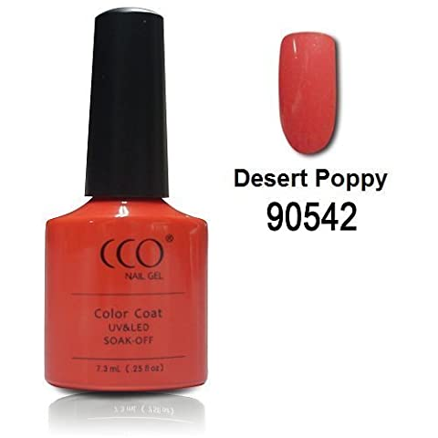 Desert Poppy - coral orange-red CCO UV LED Nail Gel Polish Varnish Professional Nails Soak Off