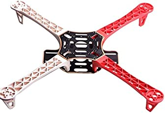 REES52 REES52_3 4-Axis Strong Frame Smooth KK/MK / MWC Quadcopter Kit, White and Red