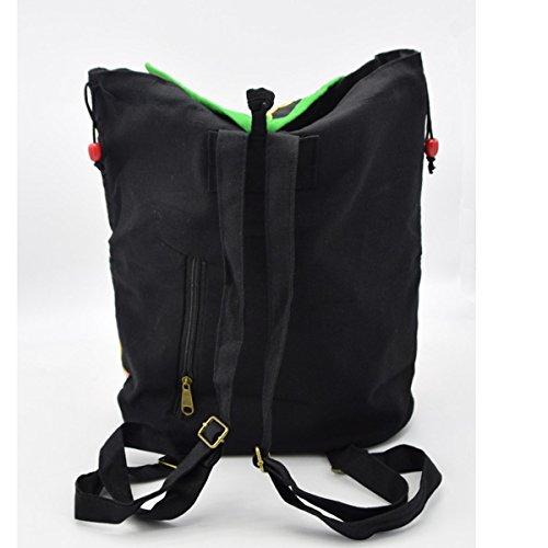 Damemädchensegeltuch-Rucksack Gedruckt Ethnic Schule Shouldre Tasche Reisetasche Multicolor 13