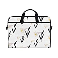 Buyxbn Happy Easter Lily Laptop Tablet Bag Tote Briefcase Computer Case Handbag Men Women with Zipper