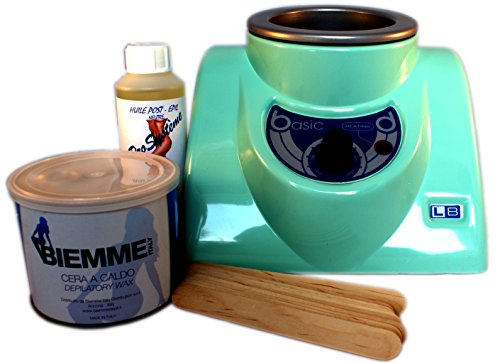 Epilwax S.A.S.Basic -Kit de depilación completo profesional con cera caliente cubeta de 400ml...