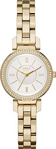 DKNY Damen Analog Quarz Uhr mit Edelstahl Armband NY2634