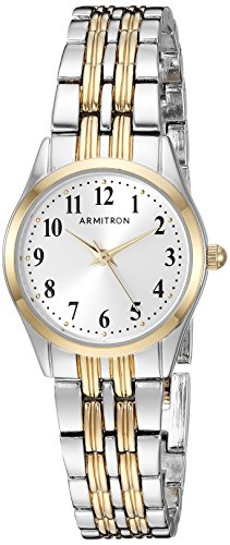 Armitron Women's 75/5304SVTT Easy To Read Dial Two-Tone Bracelet Watch