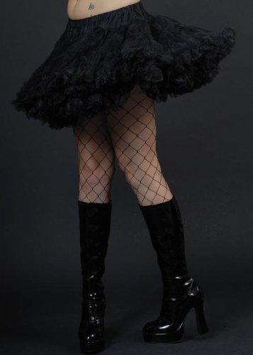 Black Schichten Tüll Petticoat (80er Jahre Kostüm Plus Size)