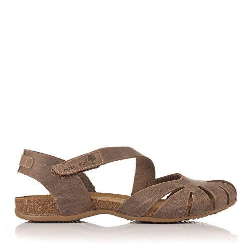 INTER-BIOS 4456 Sandalia Piel Velcro Bio Mujer Tostado 38