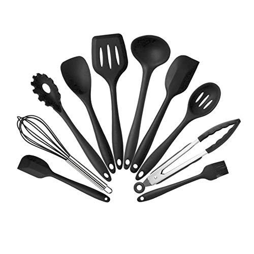 Silikon-Küchenutensilien, 10 Sets, hitzebeständig, antihaftbeschichtet, leicht zu reinigen,...