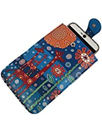 Stylish Multi Color Printed PU Leather Mobile Pouch Sling Bag For Girls / Women / Ladies To Carry Phone And Cards...