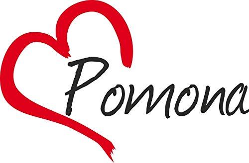 Auto Aufkleber Stadt Pomona USA Herz Sticker ca.9x14 cm konturgeschnitten (Pomona Ca)