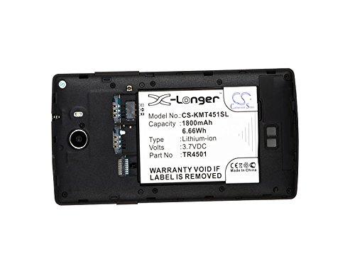 CS-KMT451SL Batterie 1800mAh [ARCHOS] 50 Titanium 4G, A50 Titanium 4G, [KAZAM] Trooper 451, Trooper 451 Dual SIM remplace AC50TI4G, TR4501, TR4501-CHHCD0006517