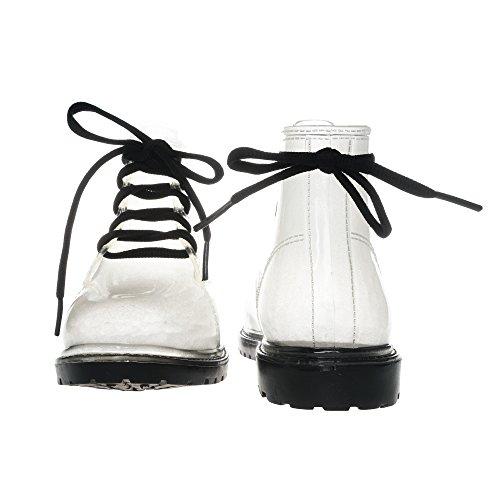 JellyJolly Martin Bottes de Pluie Imperméable pour Femme Black Sole