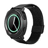 Naroote Smartwatch, Microwear L2 Stahlband Fashion Sports Bluetooth wasserdichte Uhr(Schwarz)
