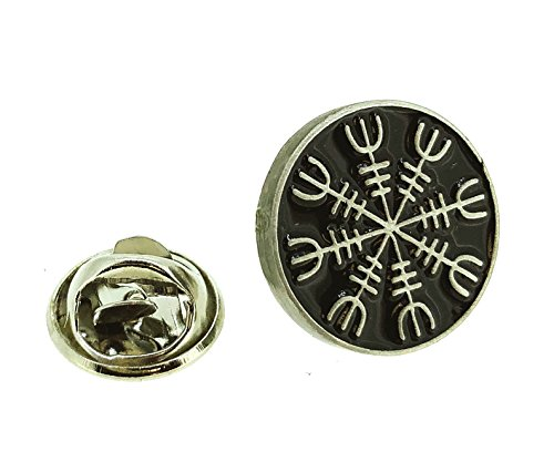 Pin de Solapa del Símbolo de Protección Vikingo Aegishjalmur