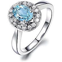 SonMo Ring Anillos Oro y Diamantes Anillo Boda Plata de Ley Anillo Compromiso Infinito Anillo de