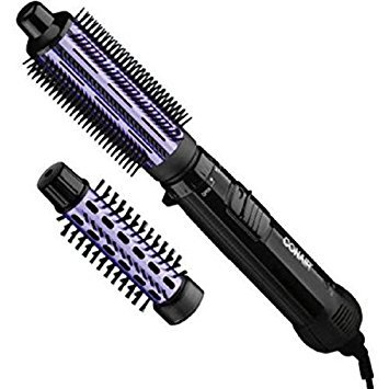 Conair Supreme 2-in-1 Hot Air Styling Brush, Black and Purple