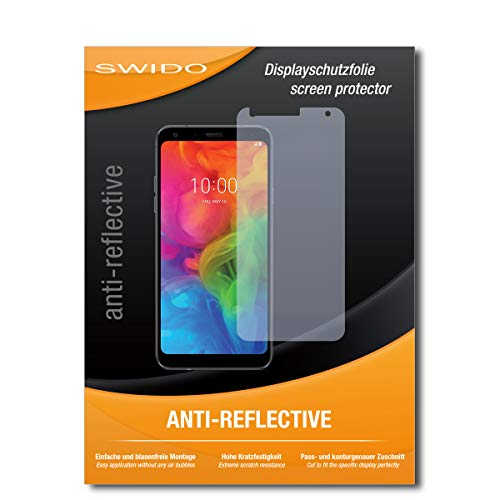 SWIDO Bildschirmschutzfolie für LG Q7 Alfa [3 Stück] Anti-Reflex MATT Entspiegelnd, Extrem Kratzfest, Schutz vor Kratzer/Bildschirmschutz, Schutzfolie, Panzerfolie