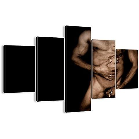 Cuadro sobre lienzo - 5 piezas - Impresión en lienzo - Ancho: 100cm, Altura: 70cm - Foto número 0239 - listo para colgar - en un marco -