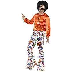 Smiffys Pantalon à pattes d'éléphant cool années 60, homme, multicolore M