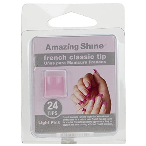 Amazing Shine 24 French Classic Nail Tips - Light Pink (262)