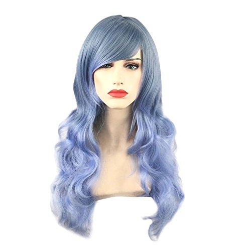 Beisoug optional Mode für Frauen Farbverlauf Farbverlauf Lange Haare Perücke Party Cosplay Wi
