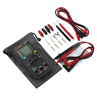 Comomingo ANENG Digital Multimeter AN8004 LCD Display Multimeter 2000 Counts AC/DC Tester(Black)