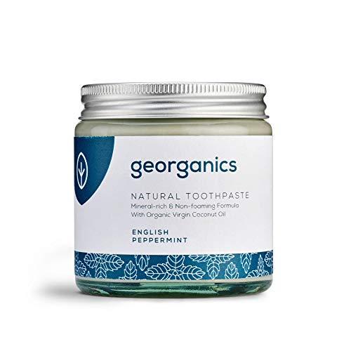 Georganics Natürlich Bio Kokosölzahnpasta- Englischer Pfefferminz 120 ml/Remineralizing Natural Organic Coconut Oil Toothpaste - English Peppermint 120ml - Natürliche Zahnpasta