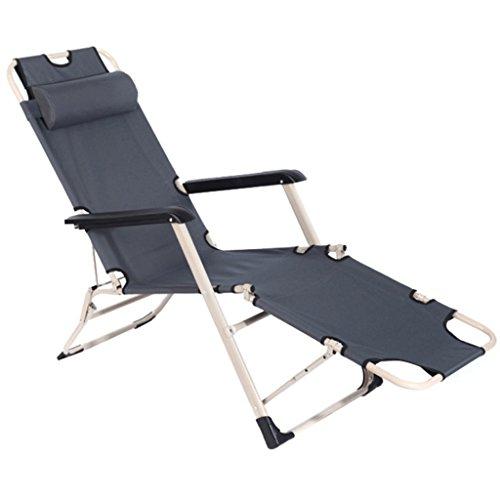 Graues Klappstuhl-faltbares Bett-Aufenthaltsraum-Stuhl-Krankenpflege-Bett-Siesta-Bett sitzen und...