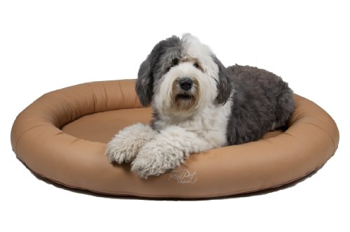 Artikelbild: TrendPet 'Comfado' 130x90cm Nature, Luxus Hundebett aus Soft-Kunstleder 'Das Hundebett'