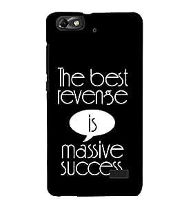 PrintVisa Best Revense Success 3D Hard Polycarbonate Designer Back Case Cover for Huawei Honor 4C :: Huawei G Play Mini