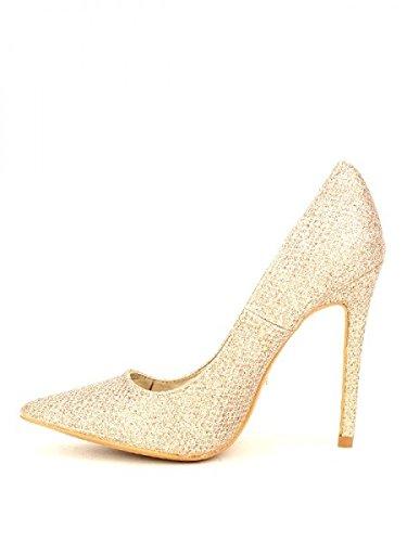 Cendriyon, Escarpin doré paillettes YEP'S Chaussures Femme Doré