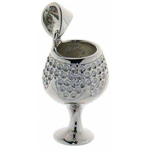 Derby Anhänger Weinkelch Trinkglas massiv echt Silber 23196