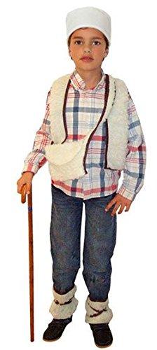 Generique Hirten Kostüm für Jungen 98/116 (3-4 Jahre) (Jungen Hirten Kostüm)