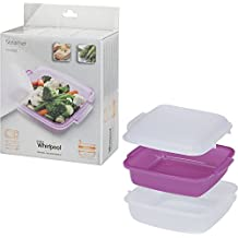 Whirlpool STM008 - microwave cookware (Steamer, Purple, White, White)