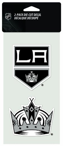 Wincraft NHL Aufkleber/Aufkleber, gestanzt, 10,2 x 20,3 cm, 2 Stück, Los Angeles Kings Nhl-aufkleber