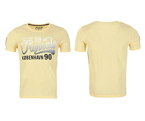 JACK & JONES Herren T-Shirt JORSPY TEE SS CREW NECK, in verschiedenen Farben Anise Flower