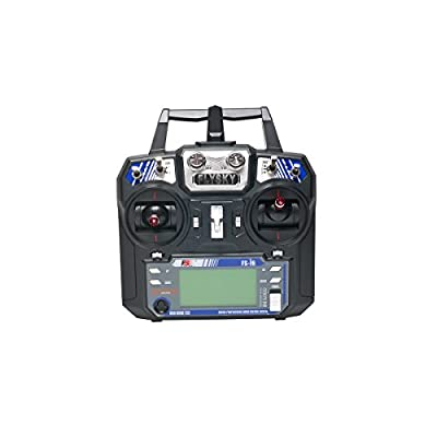 FlySky FS i6 6CH Transmitter and Receiver, 2.4GHz 6 Channels Radio Transmitter with iA6 Receiver Combo Remote Controller System for RC Drone, Car, Boat by QWinOut