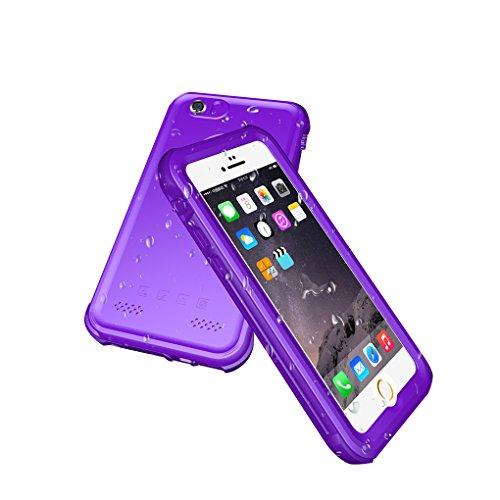 LUFA Pour iPhone 5 / 5S / SE Case Cover Housse imperméable antichoc Housse de protection pleine peau Violet