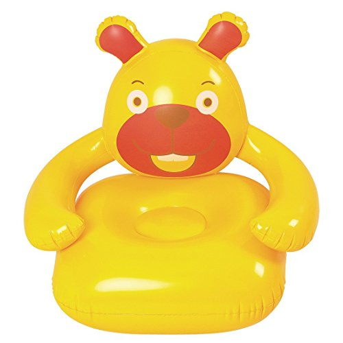 Jilong orso sofa - poltrona gonfiabile per bambini a partire da 3 anni, 78x68x68 cm