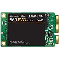 """Samsung MZ-M6E500BW SSD 860 EVO MSATA,  500 GB, 2.5"""" SATA III, Verde/Nero"""