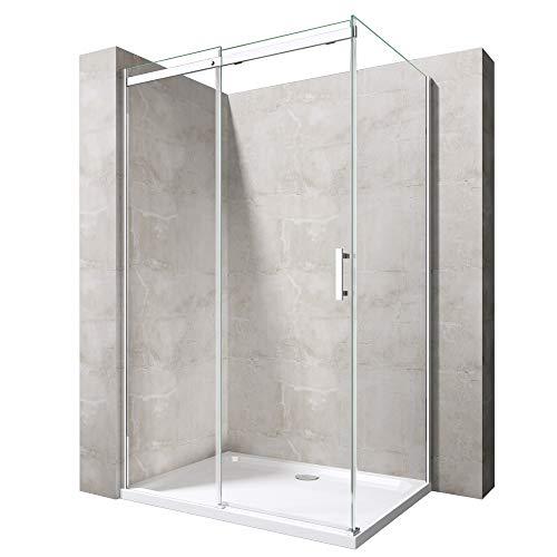 Duschabtrennung Ravenna18 in Klarglas ESG mit NANO 70x120cm Dusche mit Schiebetür Eckeinstieg: Links
