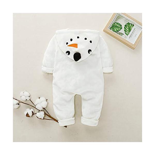 Mono de muñeco de Nieve Niñito Bebé Invierno Lindo Chico Chica Navidad Cosplay de muñeco de Nieve Disfraz Mameluco… 3