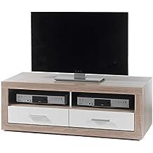 120 x 46 x 39 cm Board TV-M/öbel Wohnzimmer Fernsehschrank Sonoma Eiche TV Schrank My-goodbuy24 TV Lowboard Fernseher Schrank Nachbildung HiFi TV-Rack