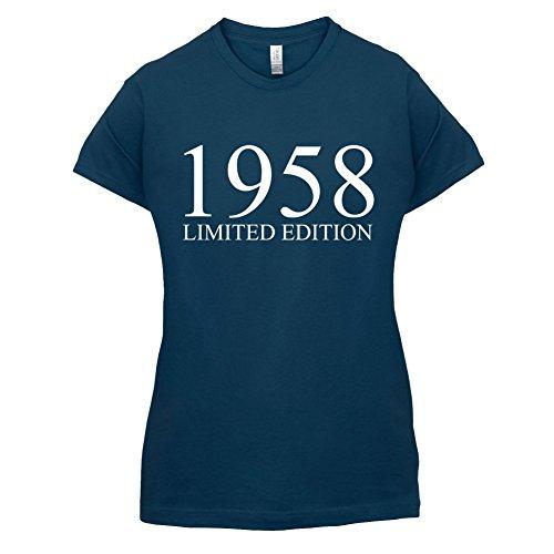 1958 Limierte Auflage / Limited Edition - 59. Geburtstag - Damen T-Shirt - 14 Farben Navy