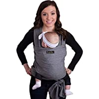 9-in-1 CuddleBug Baby Wrap Sling + Carrier - Newborns & Toddlers up to 36 lbs - Hands Free - Gentle, Stretch Fabric - Ideal for Baby Showers - One Size Fits All (Grey)