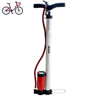 HOCHDRUCK Fahrradpumpe für alle Ventile Sport Luftpumpe Standpumpe inklusive Manometer Fußpumpe Pumpe von Smartweb