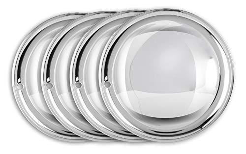"Moon Caps 13\"" Zoll (2x) Edelstahl poliert Radzierblenden Radkappen Radblenden"