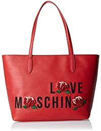 Love Moschino - Borsa Calf Pu Rosso, Bolsos totes Mujer, Rot, 27x44x15 cm (W x H D)